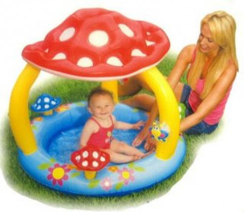 Детский надувной бассейн Intex 57407 с навесом, фото 2