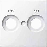 Накладка антенной розетки двопостовая R/TV+SAT Merten Полярно-Белый (MTN299819)