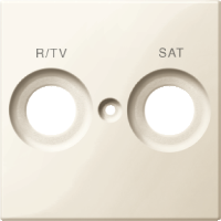 Накладка антенной розетки двопостовая R/TV+SAT Merten Бежевый (MTN299844)
