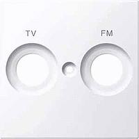 Накладка антенной розетки двопостовая TV+FM Merten Активно-Белый (MTN299925)