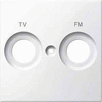 Накладка антенной розетки двопостовая TV+FM Merten Полярно-Белый (MTN299919)