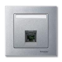 Накладка для компьютерной розетки Merten Алюминий (MTN465860)