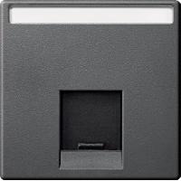 Накладка для компьютерной розетки Merten Антрацит (MTN465814)