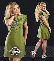 Летнее платье со стразами - 16462