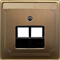 Накладка розетки РОЗ.UAE Merten Античная Латунь (MTN292643)