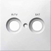Накладка розетки с маркировкой R/TV+SAT Merten Полярно-Белый (MTN299619)