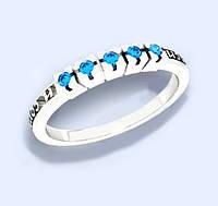 Кольцо серебряное Спаси и Сохрани с камнями  к4110