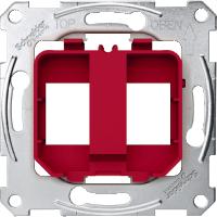 Опорные платы для модульного разъема Merten Красный (MTN4566-0006)
