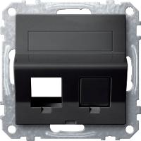 Плата наклонная для Keystone RJ45 Merten Антрацит (MTN4568-0414)