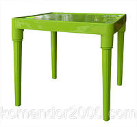 Стол пластик детский квадратный оливкового цвета