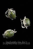 Украшения из натурального змеевика: серьги, кольца, бусы, браслеты, фото 1