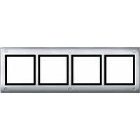 Рамка 4-постовая (с винтовым креплением) Merten Aquadesign Алюминий (MTN401460)