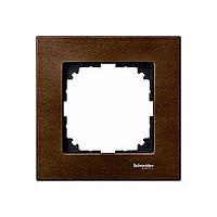 Рамка деревянная 1-постовая Merten M-Elegance Орех (MTN4051-3473)