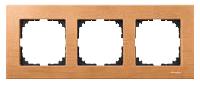 Рамка деревянная 3-постовая Merten M-Elegance Бук (MTN4053-3470)