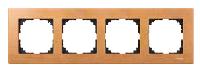 Рамка деревянная 4-постовая Merten Бук (MTN4054-3470)