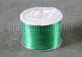 Лента атласная зелёная  0,3 см 250 ярд   19
