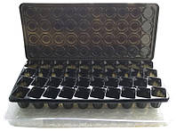 Парник- кассета для рассады с поддоном и крышкой, 40 ячеек