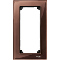 Рамка стеклянная 2-постовая (без перегородки) ELEGANCE, махагон Shneider Merten (MTN4025-3215)
