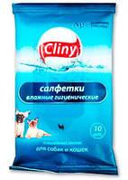 Клини (Cliny) влажные гигиенические салфетки, 10 шт., Экопром