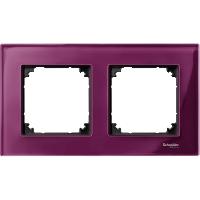 Рамка стеклянная 2-постовая Merten Elegance Рубин  (MTN4020-3206)