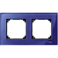 Рамка стеклянная 2-постовая Merten Elegance Сапфир(MTN4020-3278)