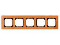 Рамка стеклянная 5-постовая Merten M-Elegance Оранжевый Кальценит (MTN404502)