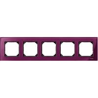 Рамка стеклянная 5-постовая Merten M-Elegance Рубин (MTN4050-3206)