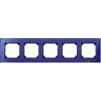 Рамка стеклянная 5-постовая Merten M-Elegance Сапфир (MTN4050-3278)