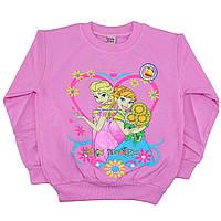 Розовая кофточка с Эльзой и Анной для девочек от 4 до 7 лет (4575-5)