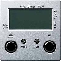 Таймер управления жалюзи с датчиком Merten Алюминий (MTN586760)