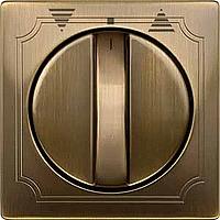 Центральная плата выключателя управления жалюзи поворотного Merten Латунь (MTN319243)