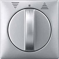 Центральная плата выключателя управления жалюзи поворотного Merten Алюминий (MTN319260)