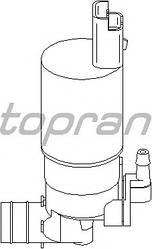 Насос бачка омивача (тільки омивачем лобового скла) на Renault Trafic 2001-> — Topran - HP207666