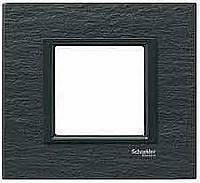 Рамка 1-постовая Schneider Electric Unica Class Черный камень (MGU68.002.7Z1)