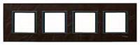 Рамка 4-постовая Schneider Electric Unica Class Кожа трюфель (MGU68.008.7P2)