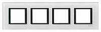 Рамка 4-постовая Schneider Electric Unica Class Белое стекло (MGU68.008.7C2)