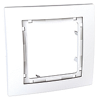 Рамка внешняя 1-постовая Schneider Electric Unica Colors Белая (MGU4.002.18)