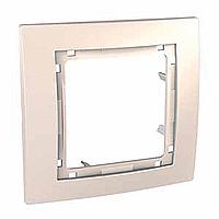 Рамка внешняя 1-постовая Schneider Electric Unica Color Слоновая кость (MGU4.002.25)