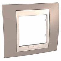 Рамка 1-пост Schneider Electric Unica Plus Коричневый (mgu6.002.574)