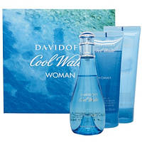 Davidoff Cool Water Woman SET (EDT 100ml + BODY LOTION 75ml + SHOWER GEL 75ml) (ORIGINAL)