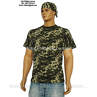 Бандана К-09013, камуфляж пиксель, кулир, головной убор, головной убор, косынка, хлопок, Bifabric
