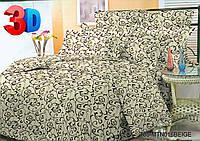 Семейное постельное белье полиСАТИН 3D (поликоттон) 016-беж