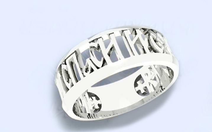 Кольцо серебряное Спаси и Сохрани  к4160