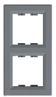 Рамка 2 поста вертикальная Schneider Electric Asfora plus Сталь (EPH5810262)