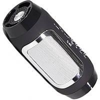 Универсальная колонка Lesko BL C65 черная беспроводная bluetooth speaker с микрофоном USB AUX FM-радио microSD