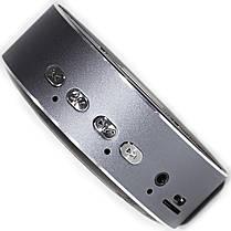 Мини bluetooth колонка BL KELING A5 серая для смартфона компьютера ноутбука музыкальная громкая универсальная, фото 3