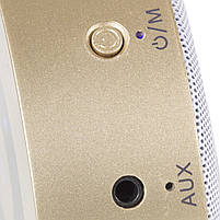 Мини-колонка BL Keling A8 золотистая беспроводная музыкальная для смартфона компьютера ноутбука AUX microSD, фото 3