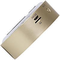 Мини-колонка BL Keling A8 золотистая беспроводная музыкальная для смартфона компьютера ноутбука AUX microSD, фото 5