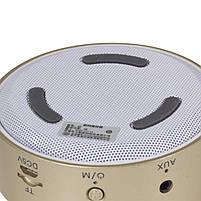 Мини-колонка BL Keling A8 золотистая беспроводная музыкальная для смартфона компьютера ноутбука AUX microSD, фото 6