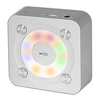 Мини bluetooth колонка BL NIGIN A9 серебристая беспроводная портативная с микрофоном AUX USB карта памяти mp3